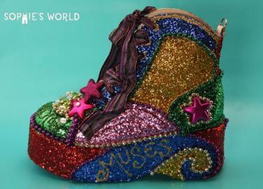 Mardi Gras Shoes 2014 Creations|sophie-world.com