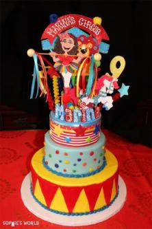 Circus Cake|Circus Theme Party|sophie-world.com