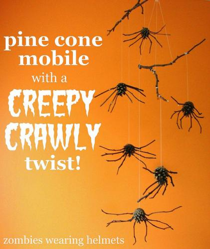 pine cone spiders | sophie-world.com