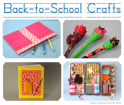 Back to School Craft Ideas|sophie-world.com