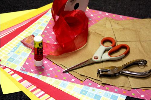 Here's what you will need to make a recycled birthday banner from sophie's world