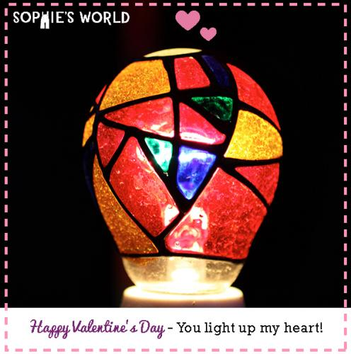 My Punny Valentine-You light up my heart|sophie-world.com
