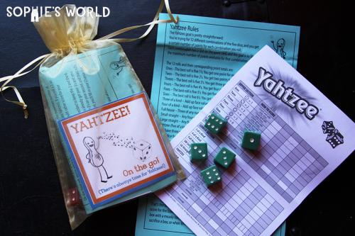 Wedding Giveaway| Yahtzee Set|sophie-world.com
