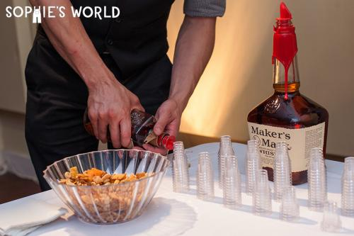 Wedding Decor|bourbon tasting bar|sophie-world.com