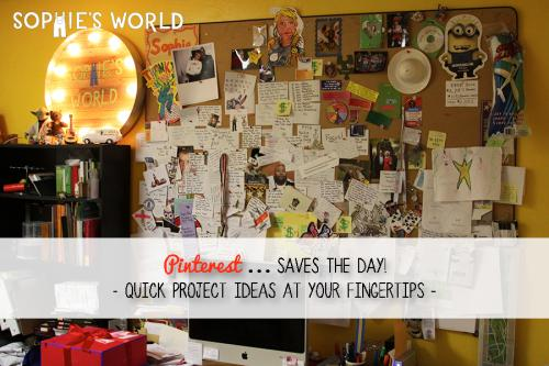 Pinterest Saves the Day- Quick Project Ideas at your fingertips!|sophie-world.com