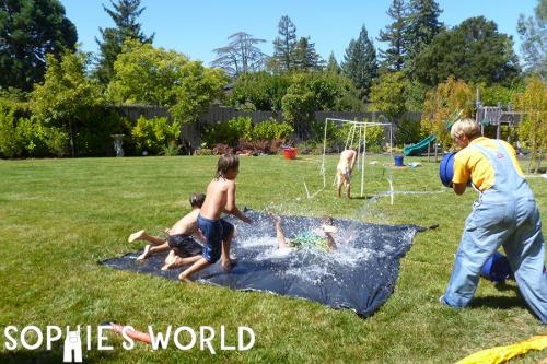 Make your own water slide ideas on sophie-world.com