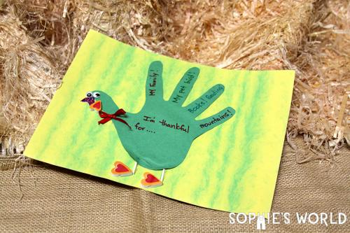 Handful of Thanks Turkey sophie-world.com