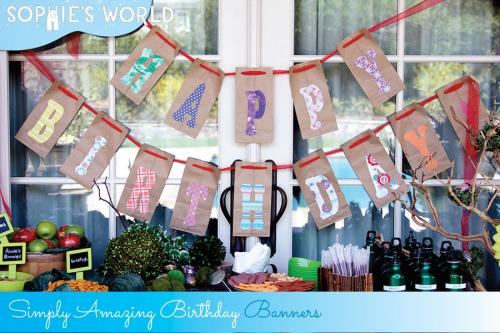 Simply Amazing Birthday Banners on sophie-world.com
