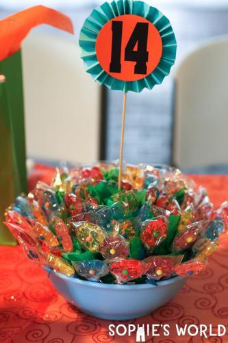 Flower Lollipop Table Centerpiece|sophie-world.com