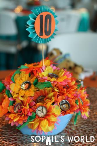 Magnetic Bottle Cap Flower Bouquet|sophie-world.com