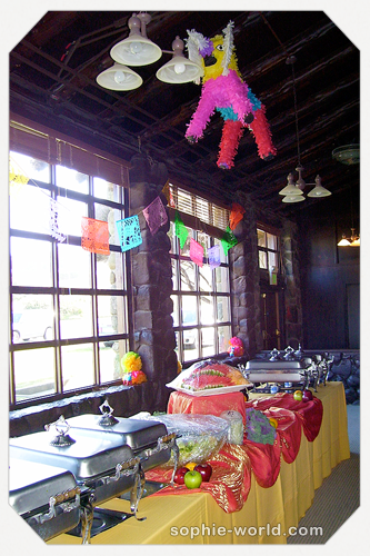 A Mexican buffet table from sophie's world