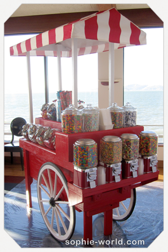 Our fabulous portable candy cart|sophie-world.com