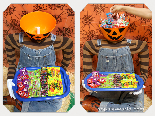 Fill this dummy's head with candy|sophie-world.com