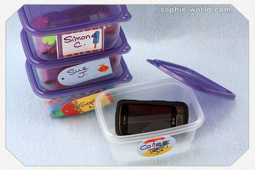small containers can be used to check cell phones|sophie-world.com