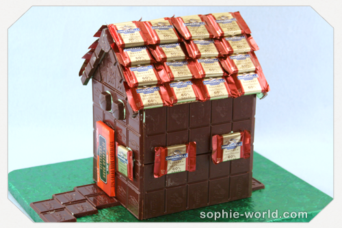 An edible candy house makes a good alternative|sophie-world.com