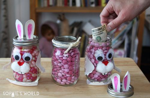 Mason Jar Funny Bunnie - Money shot|sophie-world.com