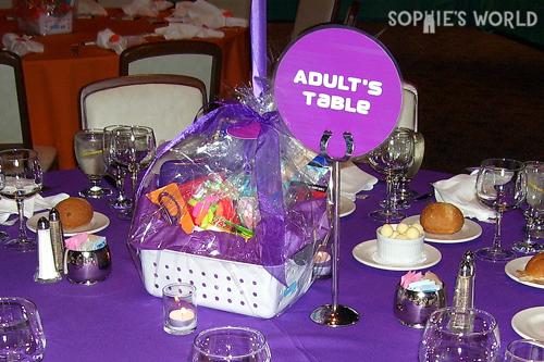 Donate-able centerpiece basket sophie-world.com