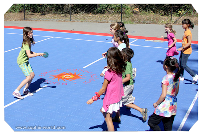 A game of fireball dodgeball from sophie's world