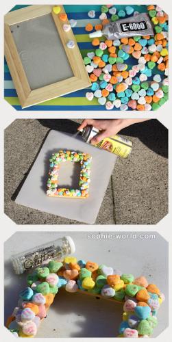 How to make a candy heart frame sophie-world.com
