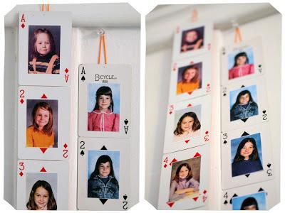 Create hanging playing cards with photos|sophie-world.com