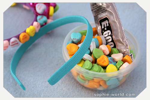 how to make a candy heart headband|sophie-world.com