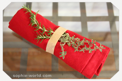 Create an elegant napkin ring froma paper bag|sophie-world.com