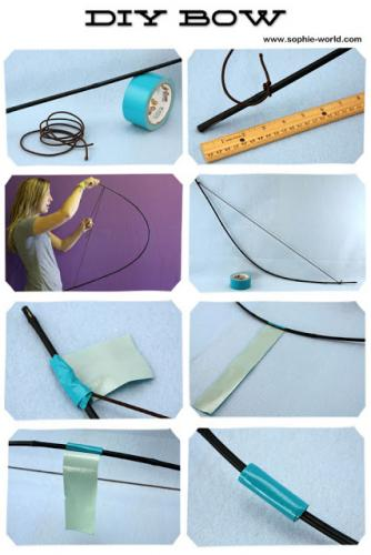 How to make a bow for a Hunger Games party|sophie-world.com