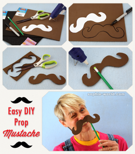 How to make a mustache on a stick|sophie-world.com