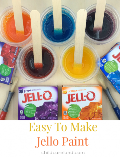 jello painting from childcareland | sophie-world.com