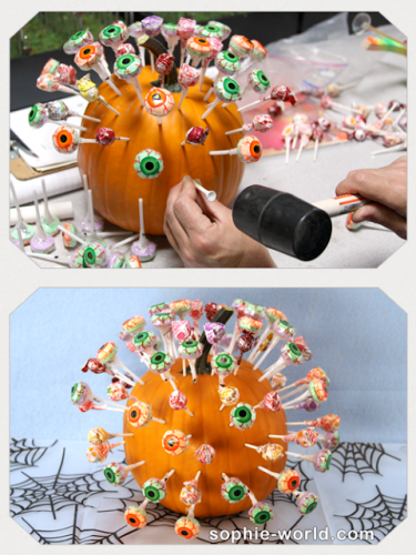 Lollipops in pumpkins make for a special treat|sophie-world.com