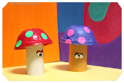 Mushroom crafts for a video game party|sophie-world.com