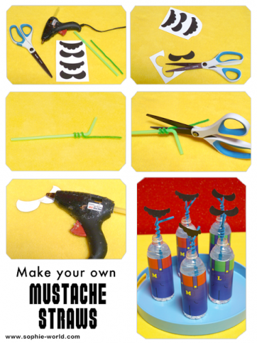 Here's how to make your own mustache straw from sophie's world