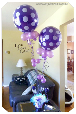 A bouquet created with air filled balloons|sophie-world.com