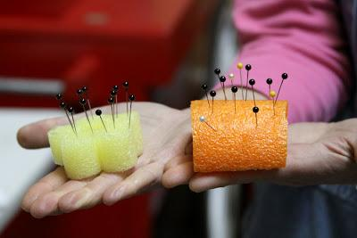 Noodles make great pin cushions|sophie-world.com