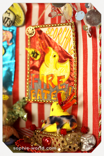 How does the fire eating peep not melt?|sophie-world.com