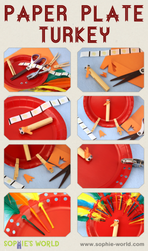 Here is how to make a paper plate turkey from sophie-world.com