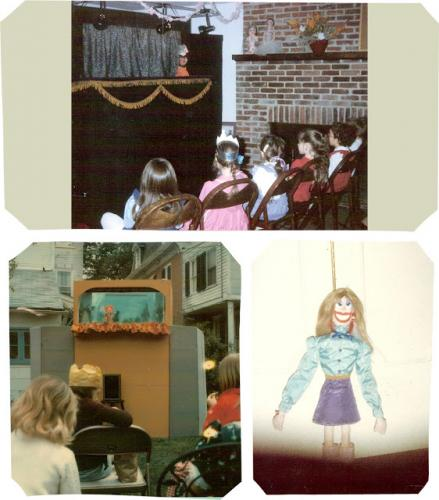 some of the earlypuppet shows Sophie helped create|sophie-world.com