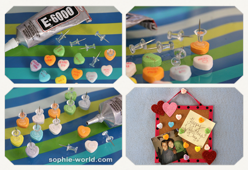 How to make candy heart push pins sophie-world.com