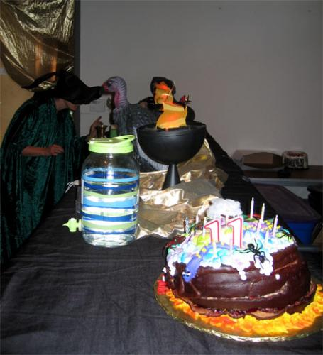 Our cauldron cake did not make it|sophie-world.com
