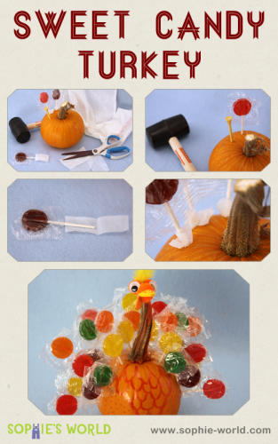 Learn to make a sweet turkey at sophie-world.com
