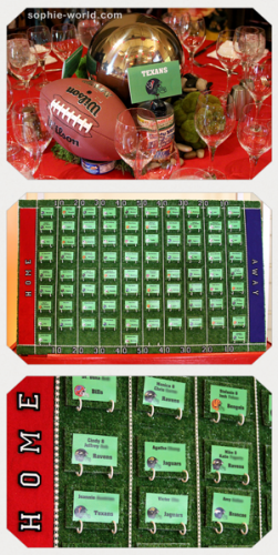 Football themed table cards|sophie-world.com