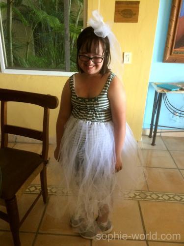 Talia in her wedding tutu | sophie-world.com