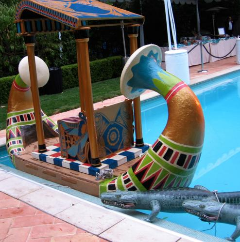 Egypt Theme Halloween Party- Decoration-A Working Barge|sophie-world.com
