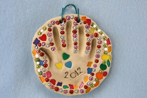 How To Make Clay Handprint Art