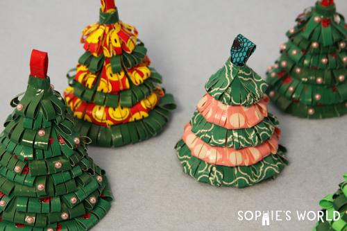 Recycled Christmas Tree Ornaments