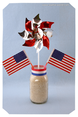 A festive centerpiece for the 4th of July|sophie-world.com
