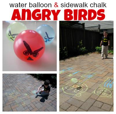 Angry Bird Inspired Water Balloons sophie-world.com