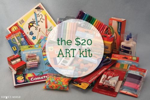 $20 Art Kit-Supplies_sophie-world.com