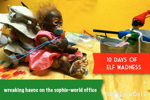 Elf in the Office|10 Days of Madness|sophie-world.com