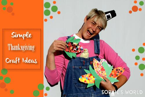 Simple Thanksgiving Craft Ideas sophie-world.com